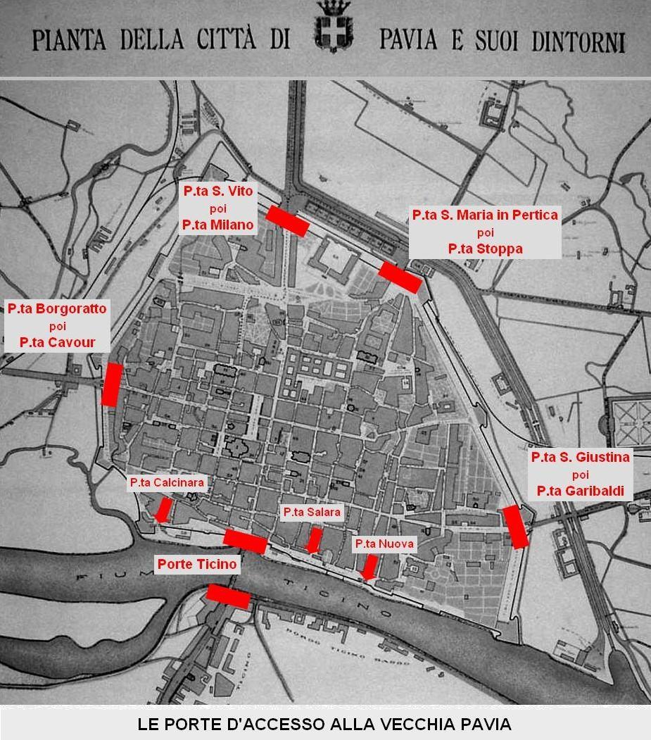 Curiosità di Pavia e dintorni - Le vecchie porte della città